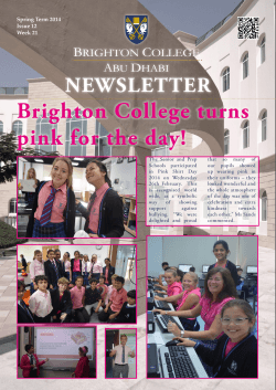 Week 21 - Brighton College Abu Dhabi