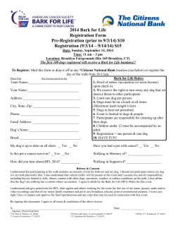 2014 Bark for Life Registration Form Pre