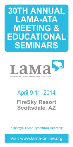 30th Annual LAMA/ATA Meeting Program (2014)