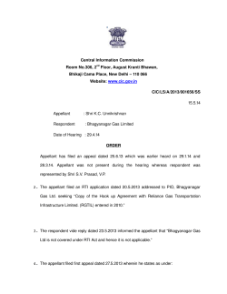 Adjunct to Decision No. CIC/LS/A/2013/001656/SS dated 15-05