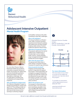 Adolescent Intensive Outpatient Fact Sheet