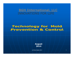 BGH International LLC BGH International, LLC INNOVATIONS FOR