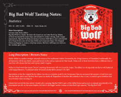 Big Bad Wolf Tasting Notes: Statistics