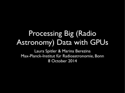 Processing Big (Radio Astronomy) Data with GPUs