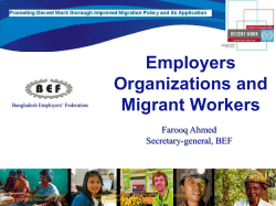 Employers Organizations and Migrant Workers