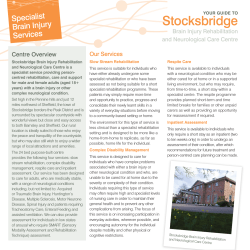 Your guide to Stocksbridge Brain Injury Rehabilitation and