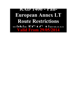 RAD 1406 - Pan- European Annex LT Route Restrictions within