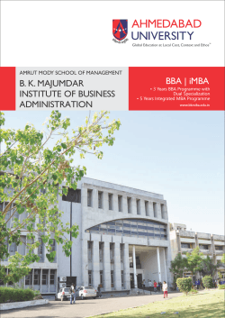BKMIBA BBA and iMBA Brochure 2014