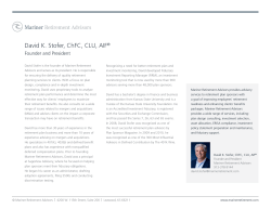 David K. Stofer, ChFC, CLU, AIF®