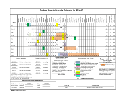 Barbour County Schools Calendar for 2014-15