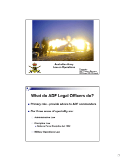 What do ADF Legal Officers do?