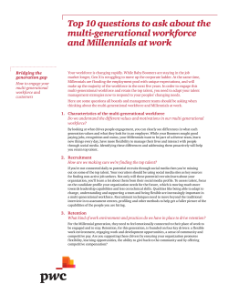 Top 10 questions to ask about the multi-generational