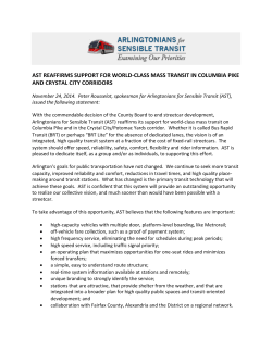 AST Press Release on Ending Streetcar Development