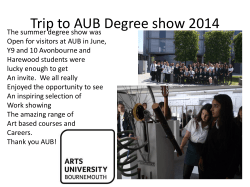 Trip to AUB Degree show 2014