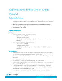 Apprenticeship Linked Line of Credit (ALLOC)