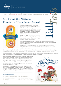 ARH wins the National Practice of Excellence Award