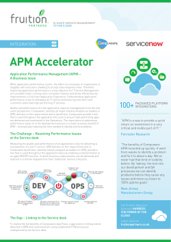 APM Accelerator - Fruition Partners UK