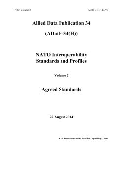 NATO Interoperability Standards and Profiles - Agreed