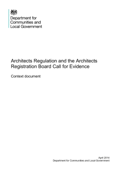 Architects Regulation and the Architects Registration Board