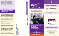 9-2014_CircleofCare_.. - Alzheimers Association of Northern