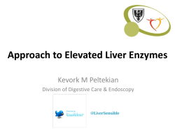 Approach to Elevated Liver Enzymes