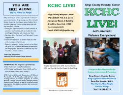 KCHC Live PDF Download - Kings Against Violence Initiative