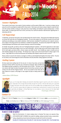 2014 Fall Newsletter