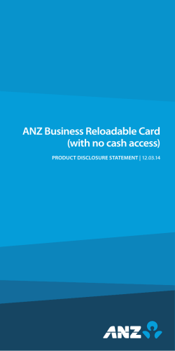 ANZ Business Reloadable Card (with no cash access)