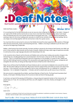 Winter 2014 - Deaf Can:Do