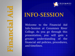 Welcome to the Financial Aid Info