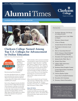 Alumni Times - Clarkson College