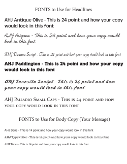 Fonts for Ads - The Forman School