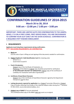 confirmation guidelines sy 2014-2015