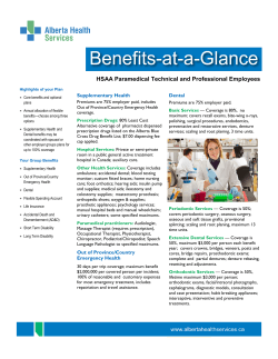 HSAA - Benefits at a Glance