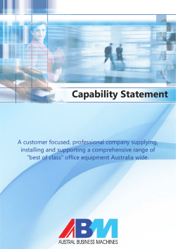 Capability Statement - Austral Business Machines