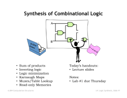 Synthesis of Combinational Logic - 6.004