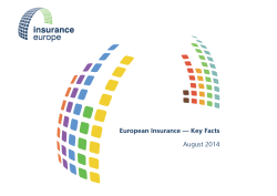 Key Facts booklet - Insurance Europe