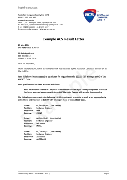 Understanding the ACS Result Letter