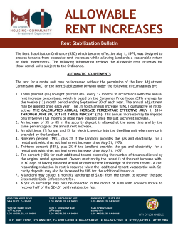 allowable rent increases - Housing and Community Investment