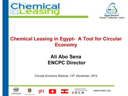Chemical Leasing - SWITCH-Med