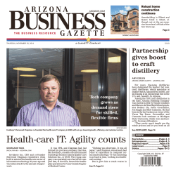Arizona Business Gazette – November 2014