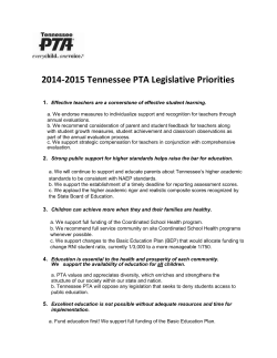 TN PTA Legislative Priorities