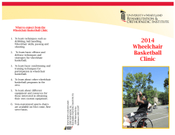 Wheelchair Basketball - UM Rehabilitation and Orthopaedic Institute