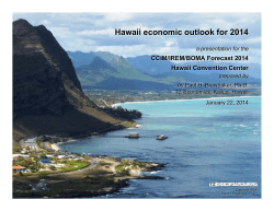 Hawaii economic outlook for 2014