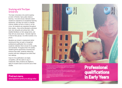 Open University leaflet