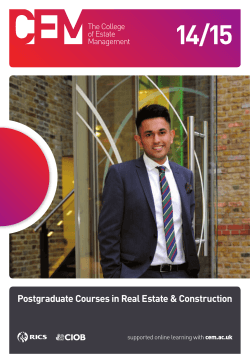 Download a copy of our 2014-15 Postgraduate prospectus