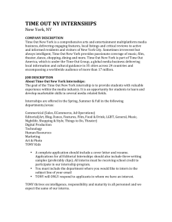 TIME OUT NY INTERNSHIPS