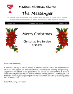 The Messenger Merry Christmas - Madison Christian Church