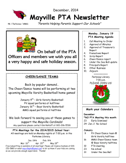 Mayville PTA Newsletter - Mayville School District