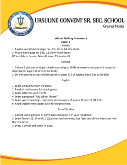 to View the File - Ursuline Convent Sr. Sec. School Greater Noida